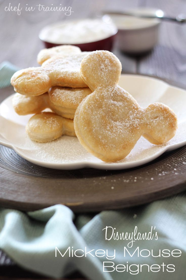 Disneyland's Mickey Mouse Beignets..This recipe come straight from Disneyland itself :) These amazing treats can be found at Cafe Orleans at Disneyland Resort and today I get to share the yummy and sought after recipe with you! Not only are these delicious, easy and totally doable- but they bring an extra little bit of magic to breakfast/dessert with their cute Mickey Mouse Shape.