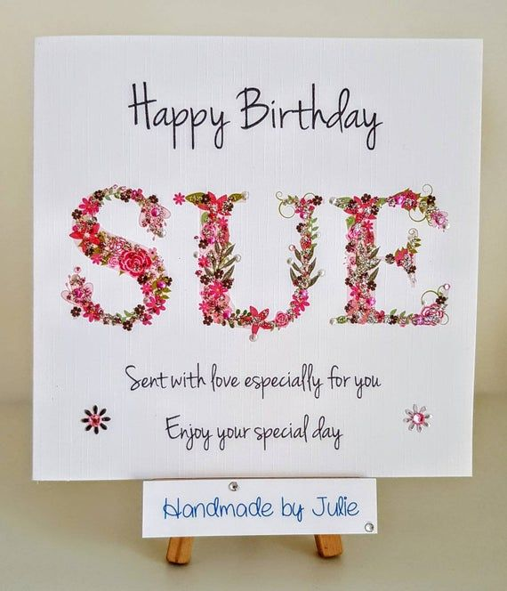 Personalised Birthday Card Made Personal With Any 3 Letter Name