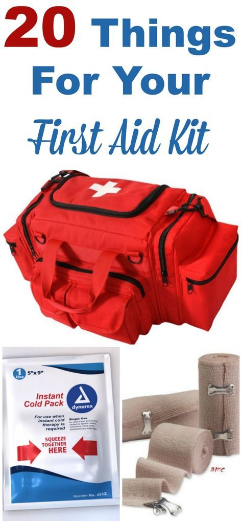 20 things you should condsider putting in your first aid kit today #ad