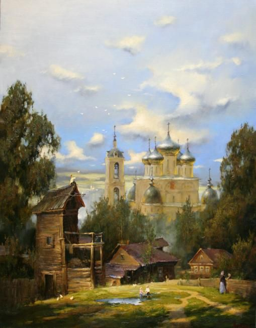 Dmitrov patio by Russian artist Stepan Nesterchuk (1978)