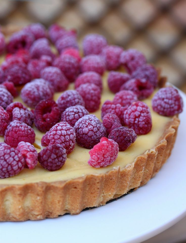 lime and raspberry flan