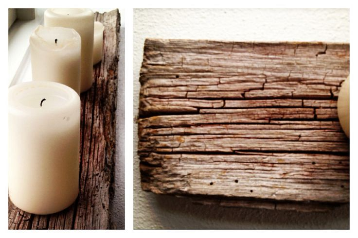Candle lights on an old wooden frame - a nice giweaway from a neighbour of my mother...