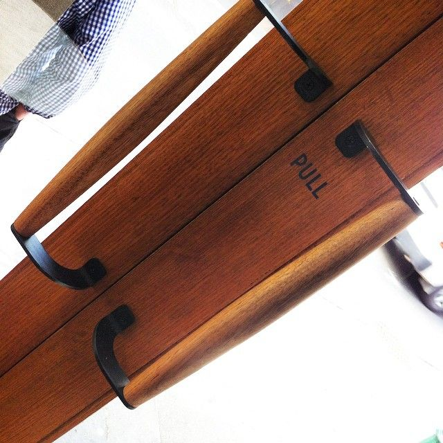 See this Instagram post by @auburnwoodturning • 39 likes Spotted this pair of timber handles we turned last year. A chance find at #kirkswinebar where we enjoyed a drink waiting for rain to pass. Corner of Little Bourke & Hardware Lane #melbourne #custommade #customfurniture #customwoodturning #woodturner #woodenhandles #doorfurniture #doorhandles #madetoorder #bespokewoodturning
