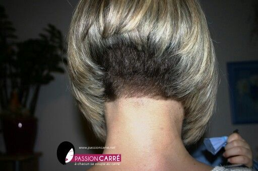 Beautiful Short Inverted And Stacked Bob With Short Nape