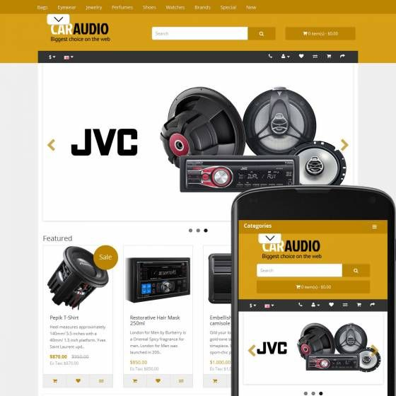 OpenCart Theme Fjord Car Audio Ochre