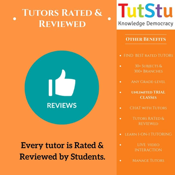 TutStu has Review & Rating system for students. Students can rate & review their teachers according to tutor's credibility and teaching method. Teachers will be listed according to their Ratings. New students can find and select best rated tutors, NOW.  https://tutstu.com/faqs/Tutor-Ratings-And-Reviews-What-Who-And-How