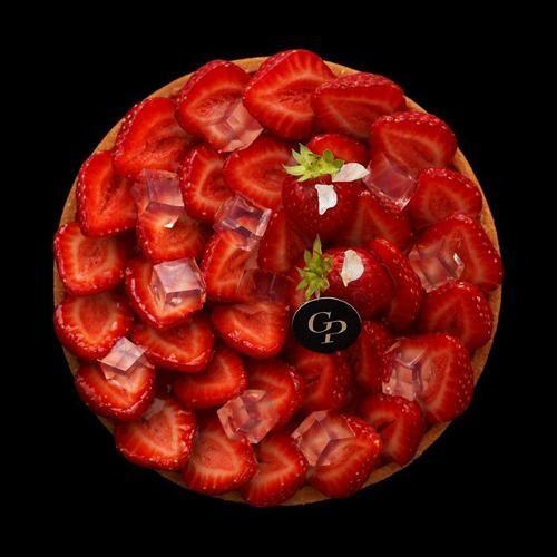 Tarte aux fraises à l' eau de fleur d'oranger | Des Gâteaux et du Pain