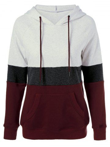 GET $50 NOW | Join RoseGal: Get YOUR $50 NOW!http://www.rosegal.com/plus-size-hoodies/plus-size-color-block-hoodie-849932.html?seid=7804245rg849932
