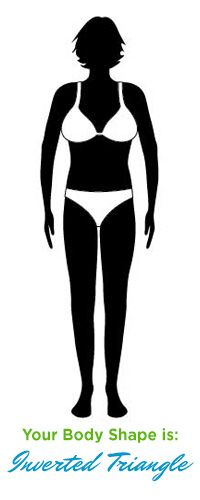 Inverted triangle Body Shape  How to Dress an Inverted triangle Body Type                                                                                                                                                                                 More
