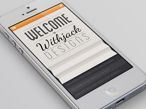 Portfolio iPhone App by Brett Withjack, via Behance