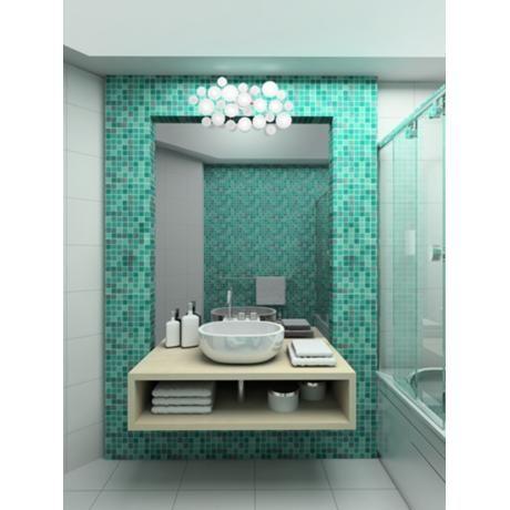 Possini Euro Lilypad 30 Wide Etched Glass Bath Light