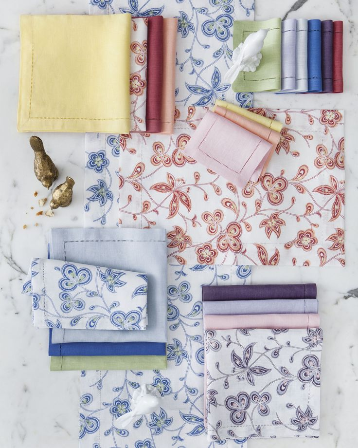 Printed in a lovely springtime palette, Calypso is designed to match a selection of hues from several of our other table linen collections.  They pair together perfectly for easy, beautiful, mix-and-match tables.