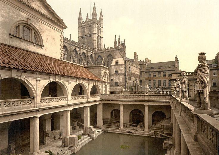 Город Бат,Великобритания.  Бат — город в Англии, местопребывание епископа и г...