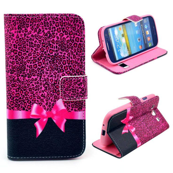 Bookcase hoesje roze strik voor Samsung Galaxy S3