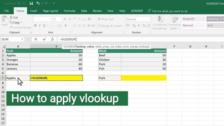 How To Apply Vlookup In 2020 With Images Vlookup Excel How To