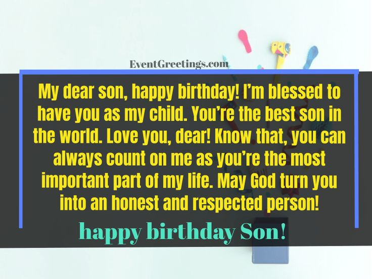 30 best happy birthday son from mom quotes with
