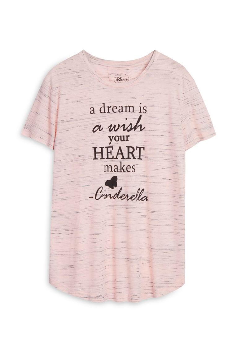 Camiseta rosa «Cinderella» de Disney