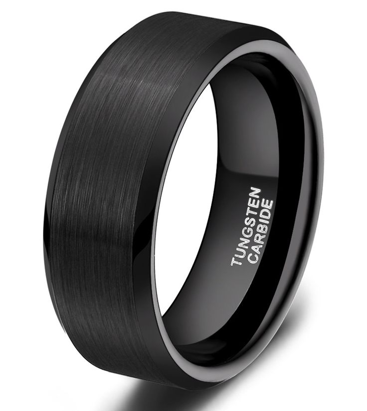 We Ship Worldwide  1PC Classic Simpl...  http://jere-miah-jewelry.myshopify.com/products/1pc-classic-simple-8mm-black-matte-tungsten-ring-wedding-band-mens-jewelry-for-engagement-wolfraam-ring-mannen-anillo-negro?utm_campaign=social_autopilot&utm_source=pin&utm_medium=pin
