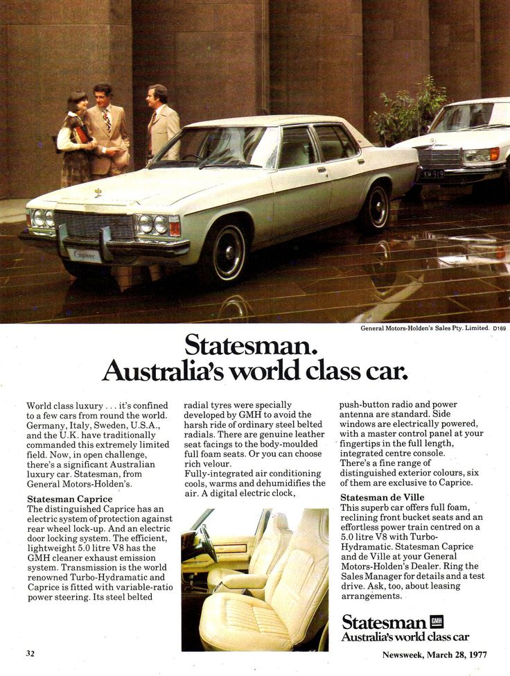 https://flic.kr/p/FxiPjb | 1976 HX Statesman Caprice By Holden Aussie Original Magazine Advertisement