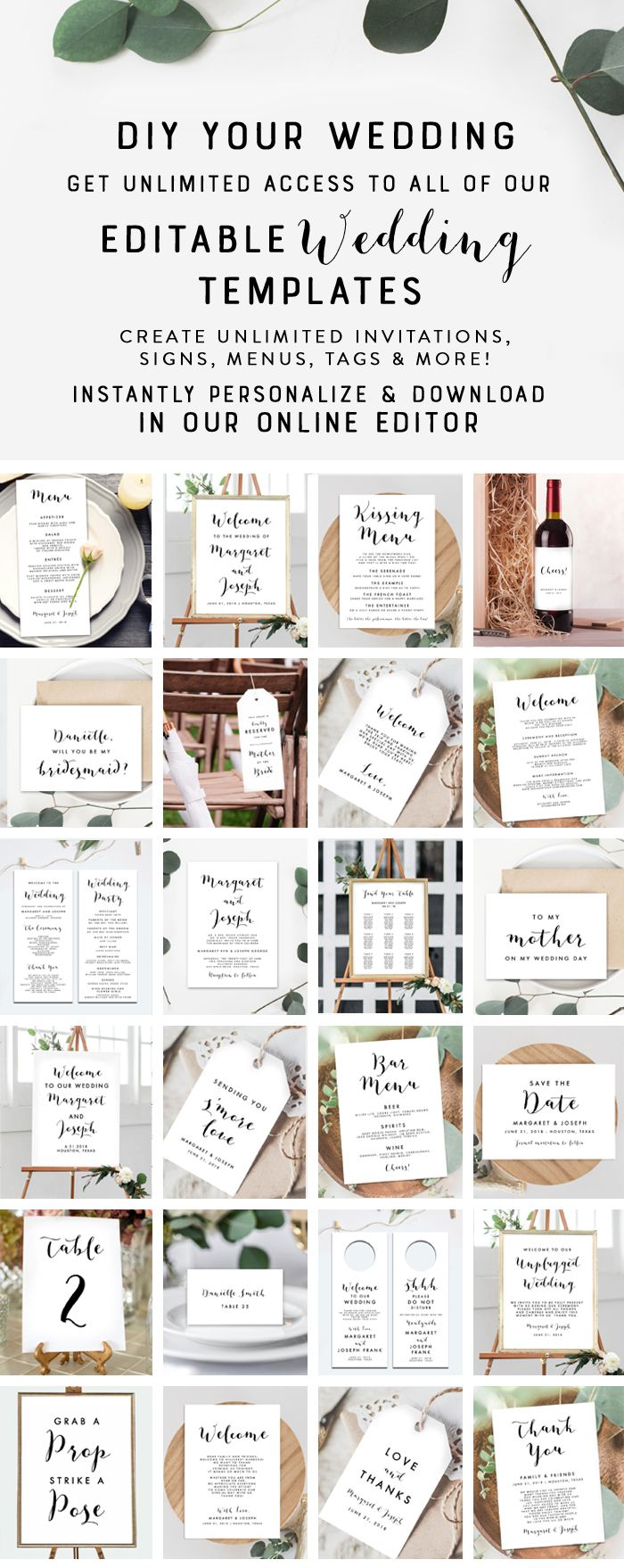 69 best DIY Wedding Templates images on Pinterest