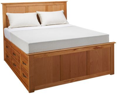 Urban Home Queen Pedestal Bed With Underbed Storage Drawers