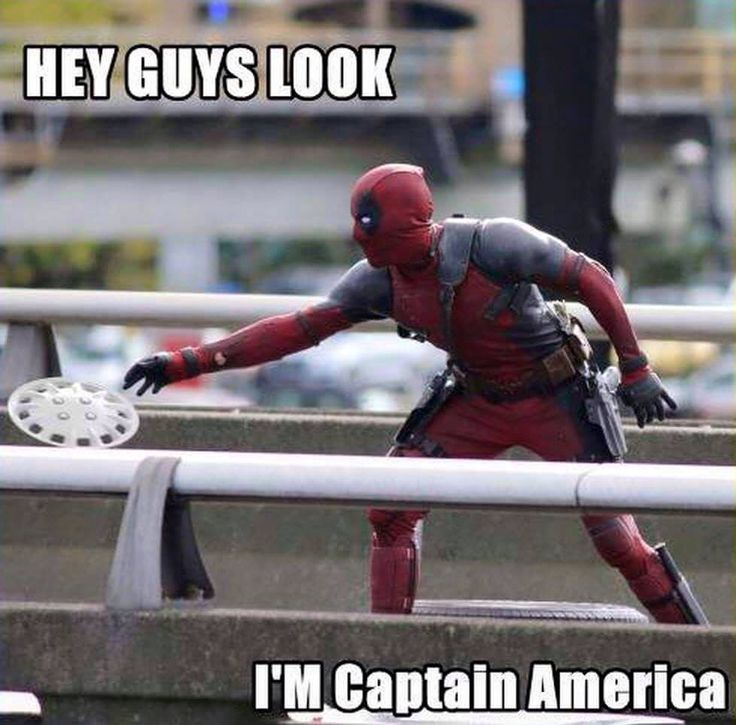 Captain deadpool hé skacok nézétek én vagyok Amerika kapitány