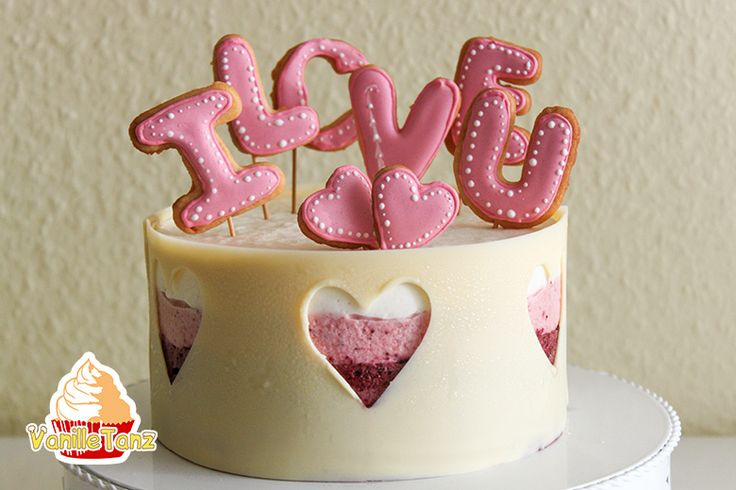 VanilleTanz: Valentinstagstorte mit Cookies und Schokoladenrand...