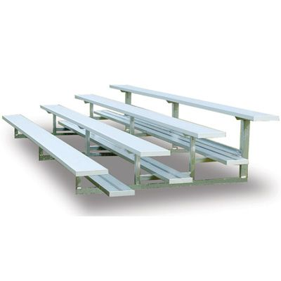 New Aluminum Bleachers for sale! Multiple sizes and styles to choose from that are durable, economical and virtually maintenance-free! We have both portable and permanent bleachers in stock, perfect for indoor/outdoor use at parks, gyms, pools, sports stadiums/fields and more. #bleachers #aluminumbleachers #lockerroombenches