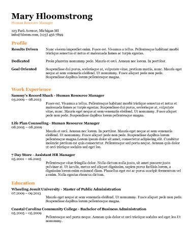 91 best RESUME images on Pinterest Curriculum, Resume and Cocktails - resume for food server