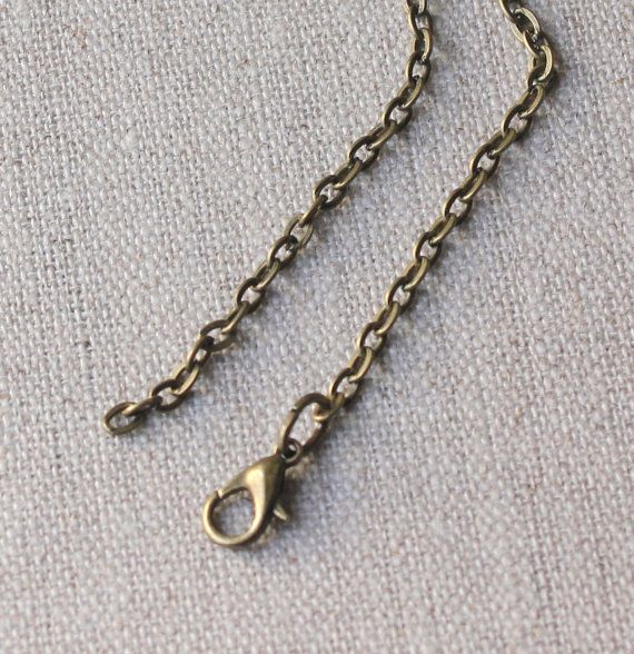 16 inch  36 inch brass chain necklace 4mm  3mm flat by acanthusjd, $6.00