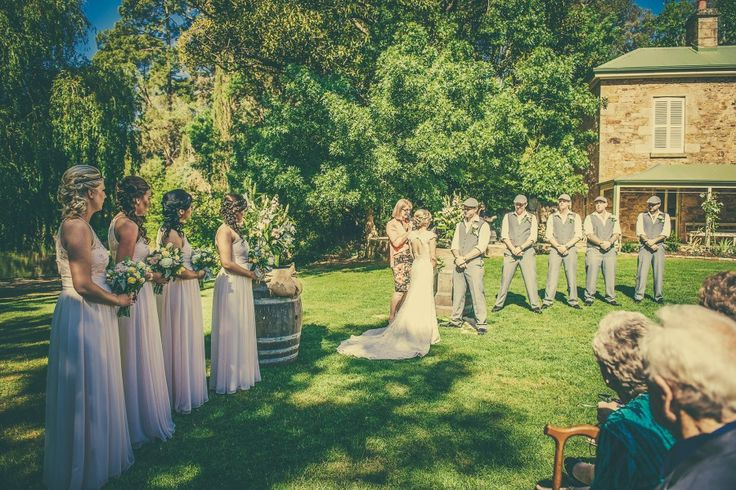 Ceremony couple. Pulp shed lawns. #GlenEwinEstate #Weddings #bridal #adelaidehills #photos #Pulpshed #weddingceremonies