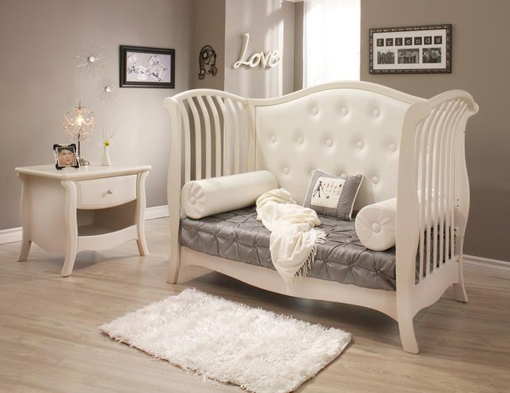 Tufted convertible crib hey baby pinterest light for Baby bedroom furniture