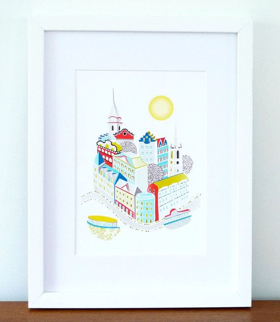 Stockholm Sweden City Art Print A4 by lauraamiss on Etsy, €10.00