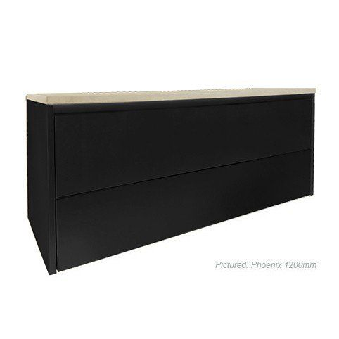 Phoenix Wall Mount Black Vanity Cabinet without Top 1200mm
