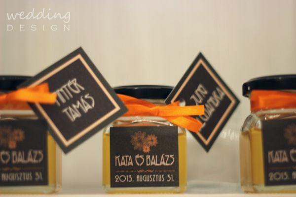 2in1 - Wedding favour and place cards - Kettő az egyben esküvői köszönetajándék és ültető kártya