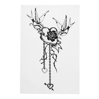 lace rose tattoo | chain tattoo jewellery new in topshop usa heart with wings tattoo ...