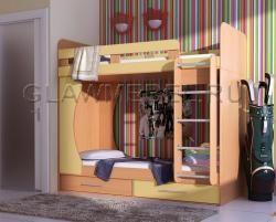 Двухъярусная кровать Карлсон - купить со склада производителя!Детская мебель от производителя - кровати чердаки,двухъярусные кровати и многое другое в интернет магазине Бамбини Двухъярусная кровать Карлсон Двухъярусная кровать Карлсон / «БамБини» - интернет-магазин мебели