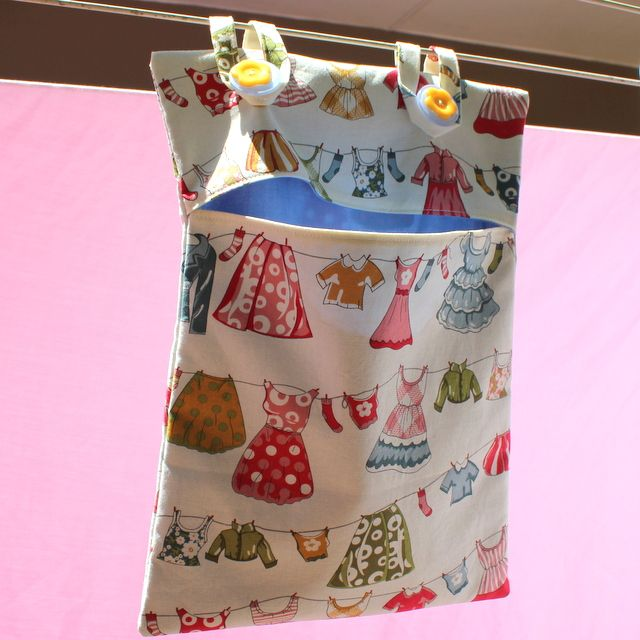 how to make a peg bag from a tea towel