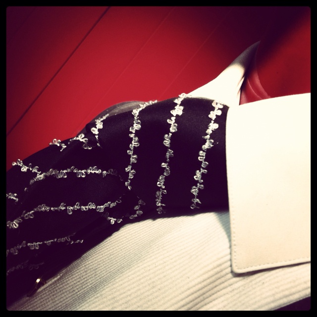 Hand made formal neck tie from Italy. In black and silver silk. #menswear #tie #luxury #italy #wedding #formal #tux