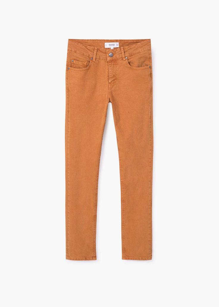 Alice straight-fit jeans | MANGO dusty orange oranje