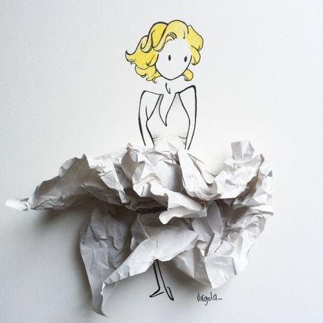 L'abito di Marilyn Monroe è una carta appallottolata By Virginia Di Giorgio