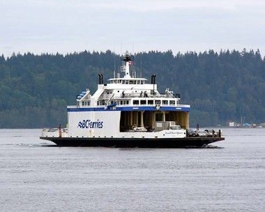 "BC ferry, the ""Powell River Queen"" services Quadra Island. Built 1965"