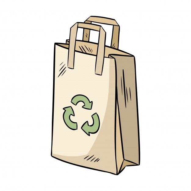 Download Eco Friendly Paper Bag Ecological And Zero Waste Product Go Green Eco Friendly Paper Flat Design Illustration Ecology