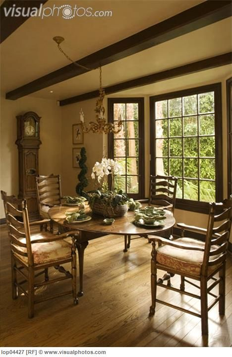 Tuscan Style Bedrooms Tuscan Style Dining Room Lop04427 Stock Photos Royalty