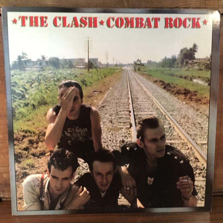 The Clash • Combat Rock Vinyl LP 1982 Epic Records 1st Press Punk Rock New Wave…