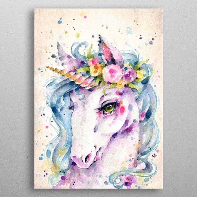 Canvas Pictures Fantasy Unicorn Mystical Creature Colourful Art Poster