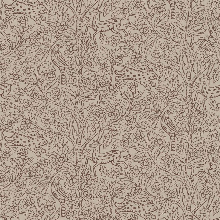 Eden - Brown wallpaper, from the Gotheborg collection by Sandberg