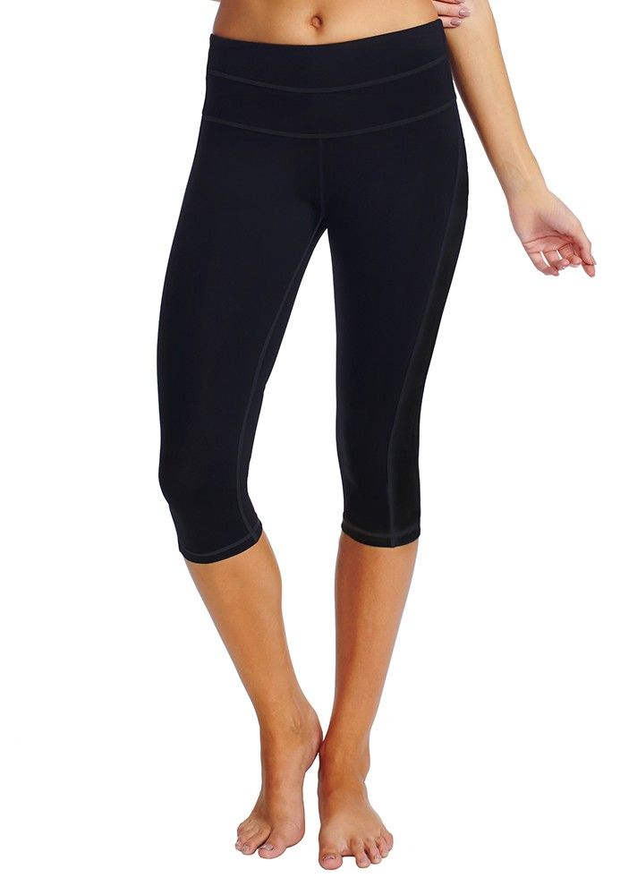 Features abi and joseph high performance fabrics and a dual waistband with wide elastic and power mesh for ultimate core support. The Dual Fit Tight also features flattering panel lines on the side leg, and our signature higher rise waistband.
