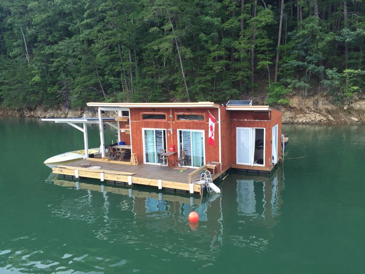 A small off-grid floating home on Fontana Lake in Almond, North Carolina. | Tiny Homes