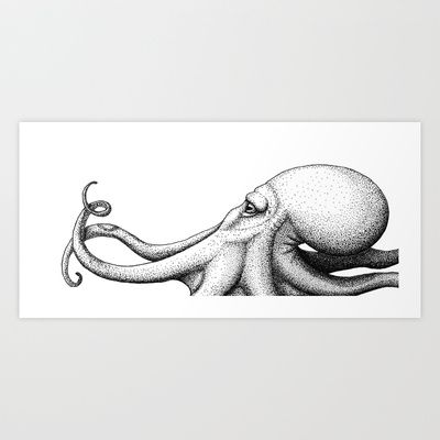 http://society6.com/danieldefarias Octopus Art Print Promoters - $16.00